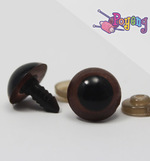 Doll's Eye - brown edge big (16mm)
